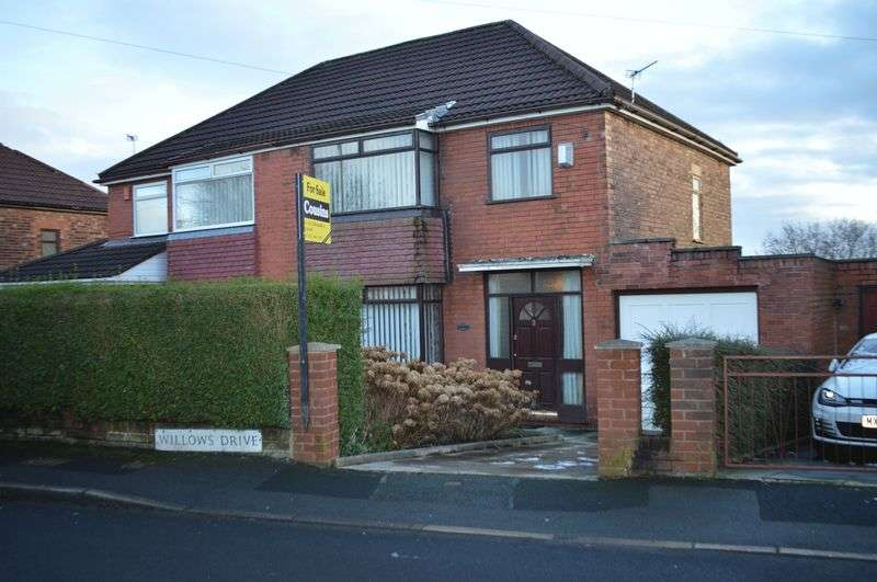 3 Bedrooms Semi Detached House for sale in Willows Drive, Manchester