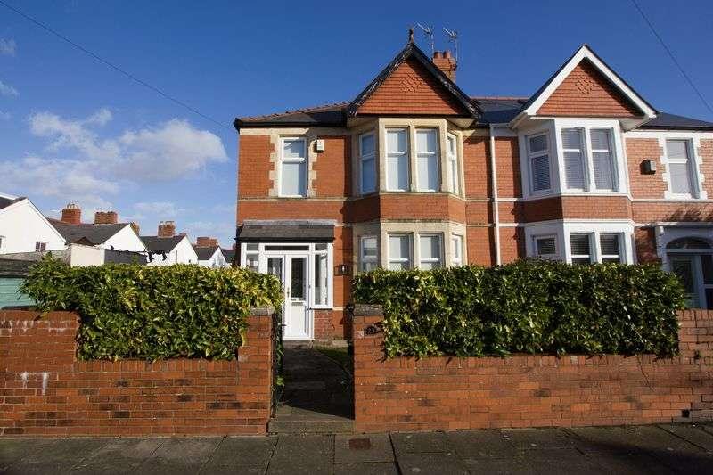 3 Bedrooms Semi Detached House for sale in Meliden Road, Penarth