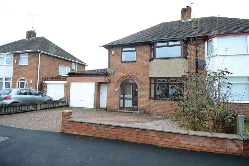 3 Bedrooms Semi Detached House for sale in Caulfield Drive, Greasby, Wirral