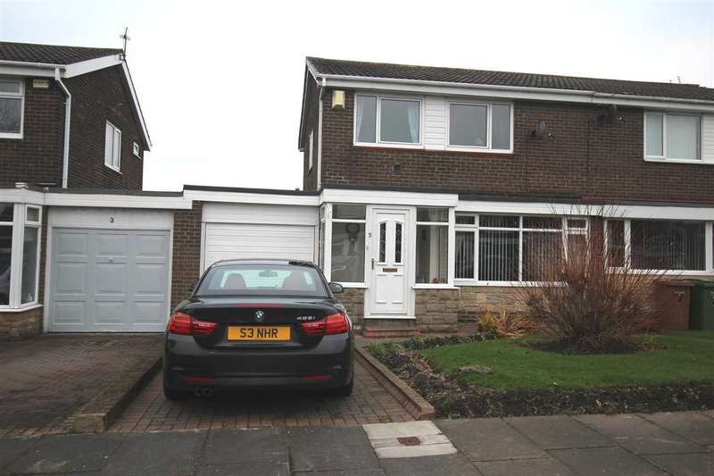 3 Bedrooms Semi Detached House for sale in Whinfell Close, Southfield Lea, Cramlington