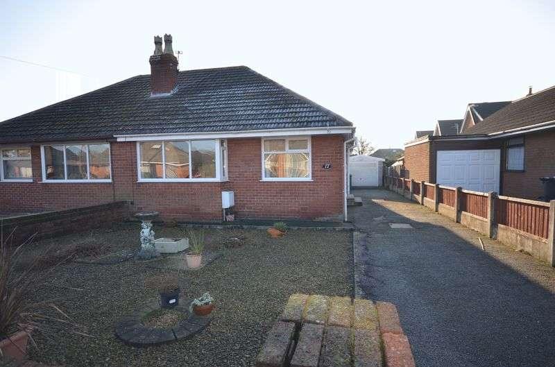 2 Bedrooms Semi Detached Bungalow for sale in 17 Sandicroft Avenue, Hambleton Lancs FY6 9BP