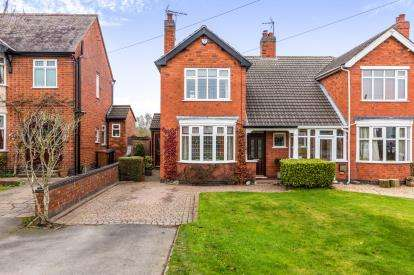 3 Bedrooms Semi Detached House for sale in Sapcote Road, Burbage, Hinckley, Leicestershire