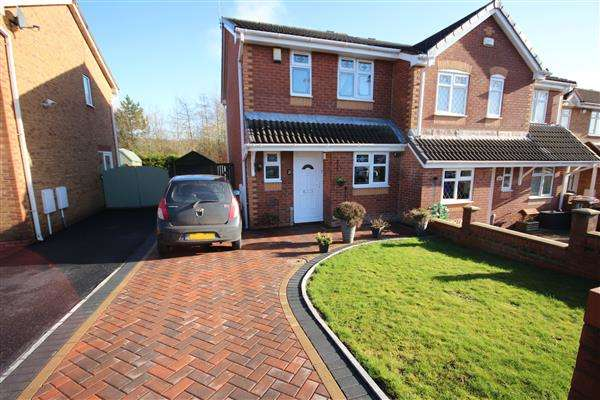 3 Bedrooms Semi Detached House for sale in Copplestone Grove, Meir Hay, Stoke-on-Trent