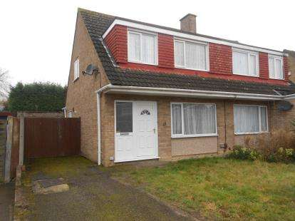 3 Bedrooms Semi Detached House for sale in Harrington Drive, Bedford, Bedfordshire