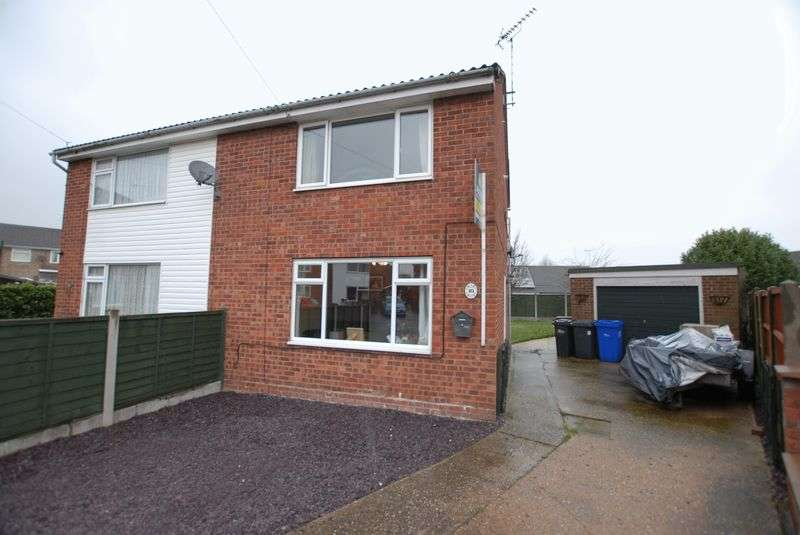 2 Bedrooms Semi Detached House for sale in Cedar Close, Uttoxeter