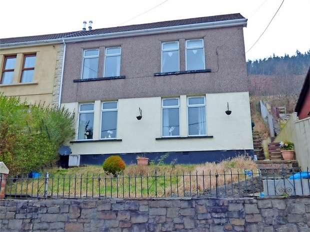 3 Bedrooms Semi Detached House for sale in Sunny Bank, Tonypandy, Mid Glamorgan