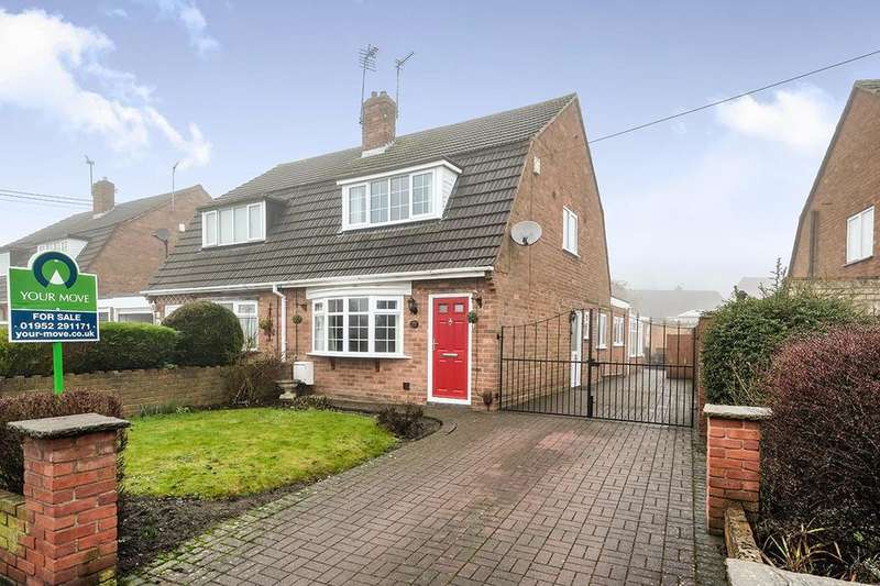 3 Bedrooms Semi Detached House for sale in Malvern Crescent, Little Dawley, Telford, TF4