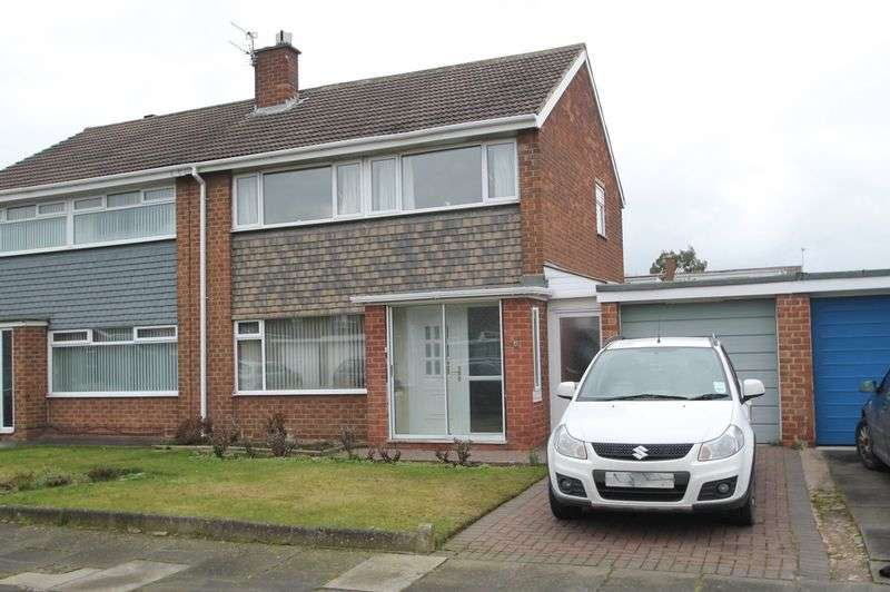 3 Bedrooms Semi Detached House for sale in Helmsley Close, Acklam Hall