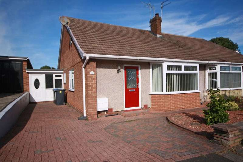 2 Bedrooms Semi Detached Bungalow for sale in Thirlmere Avenue, Garden Farm, Chester-le-Street DH2 3ED