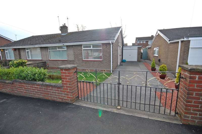 2 Bedrooms Semi Detached Bungalow for sale in Helmsley Road, Newton Hall, Durham