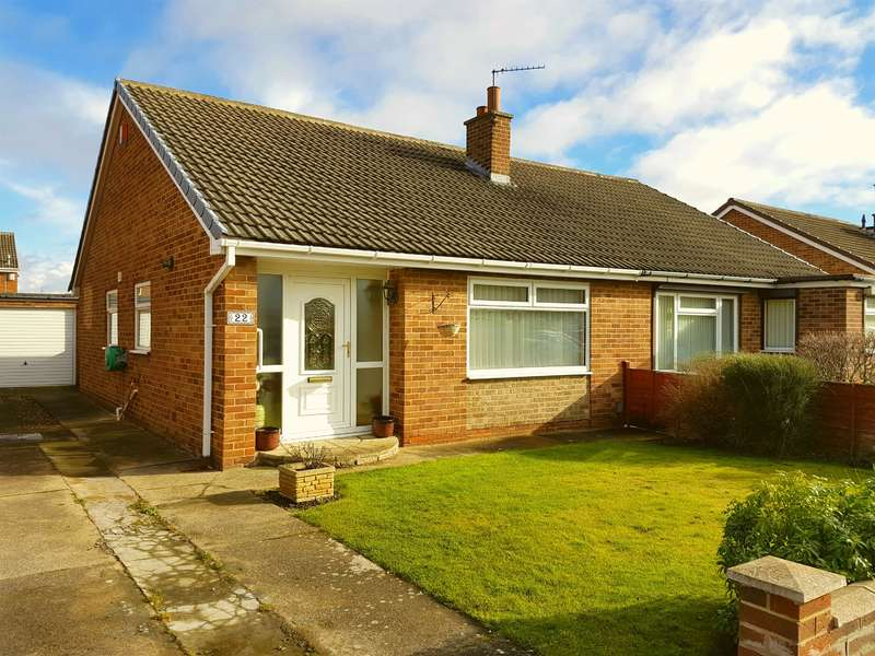 2 Bedrooms Semi Detached Bungalow for sale in Carlbury Avenue, Acklam, Middlesbrough, TS5 8SE