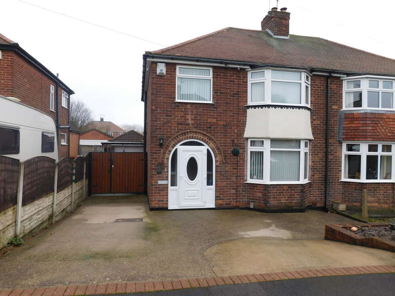 3 Bedrooms Semi Detached House for sale in Leabrooks Avenue, Sutton In Ashfield
