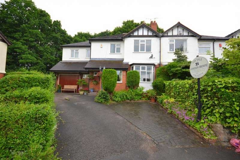 4 Bedrooms Semi Detached House for sale in The Crescent, Westlands, Newcastle