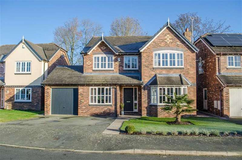 4 Bedrooms Detached House for sale in Rossett Park, Wrexham, Rossett
