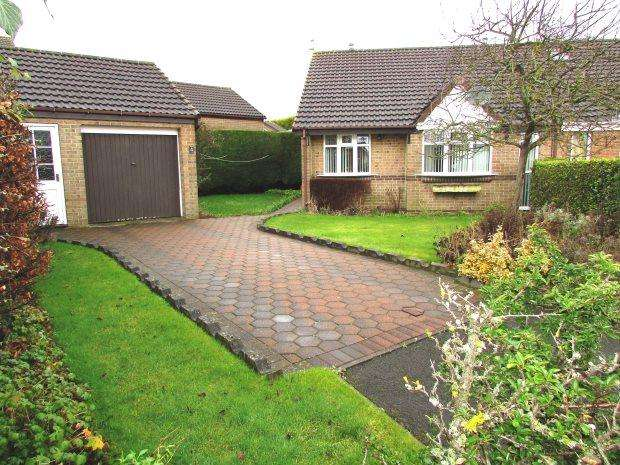 2 Bedrooms Semi Detached Bungalow for sale in YARMOUTH CLOSE, SEAHAM, SEAHAM DISTRICT
