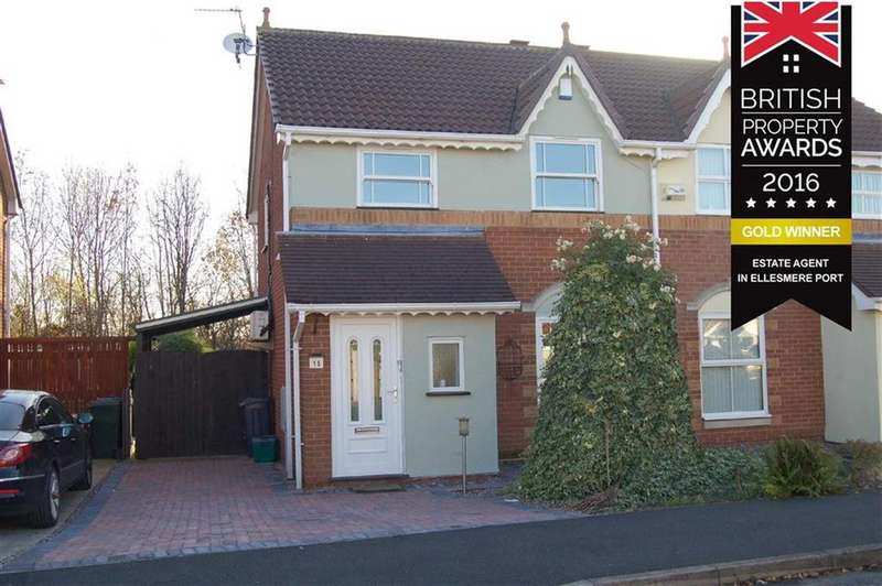 3 Bedrooms Semi Detached House for sale in Shetland Drive, Stanney Oaks, Ellesmere Port