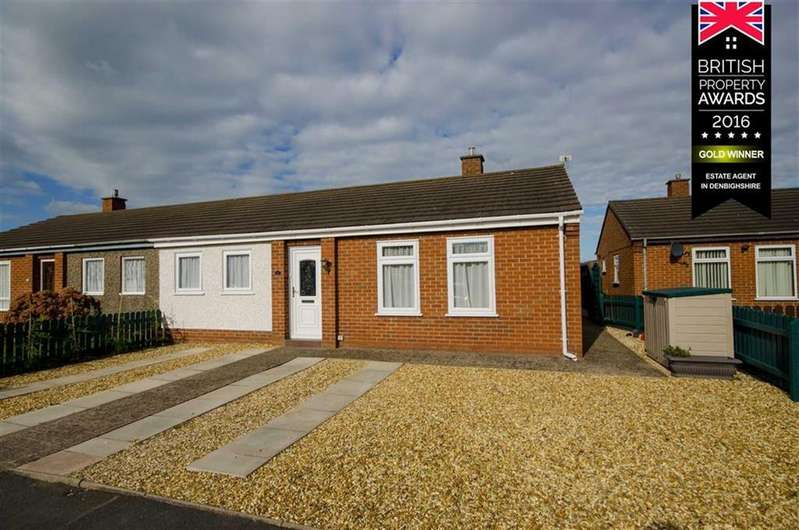 2 Bedrooms Semi Detached Bungalow for sale in Cae Seren, Ruthin