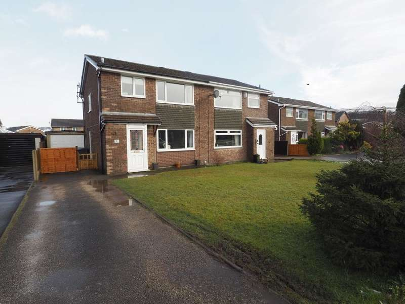 3 Bedrooms Semi Detached House for sale in Gisbourne Drive, Chapel-en-le-Frith, High Peak, Derbyshire, SK23 0LY