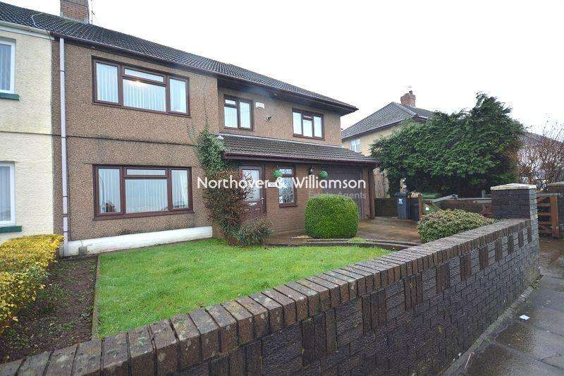 5 Bedrooms Semi Detached House for sale in Countisbury Avenue, Llanrumney, Cardiff, Cardiff. CF3