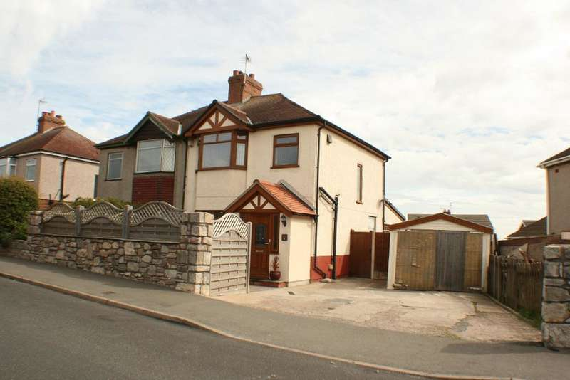 3 Bedrooms Semi Detached House for sale in Glyndwr Road, Llysfaen, COLWYN BAY, LL29 8TA