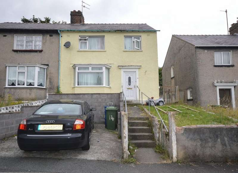 3 Bedrooms Semi Detached House for sale in Toronnen, Bangor, North Wales