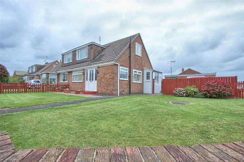 2 Bedrooms Semi Detached Bungalow for sale in Hambleton Avenue, Redcar