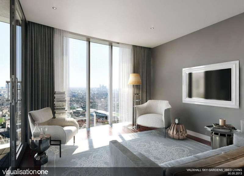 2 Bedrooms Flat for sale in Sky Gardens, Wandsworth Road, London, SW8