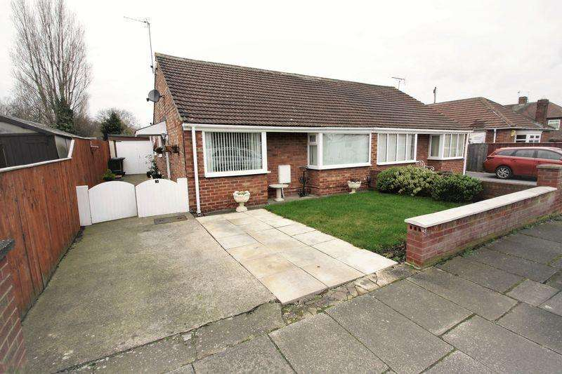2 Bedrooms Semi Detached Bungalow for sale in 3 Parkdale Way, Tollesby, Middlesbrough, TS5 7LB