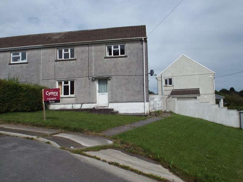 2 Bedrooms Semi Detached House for sale in Heol Yr Ysgol, Cefneithin