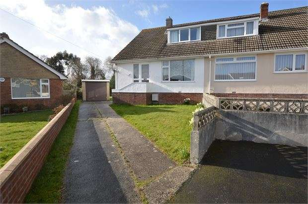 3 Bedrooms Semi Detached Bungalow for sale in Norman Close, Highweek, Newton Abbot, Devon. TQ12 1PB