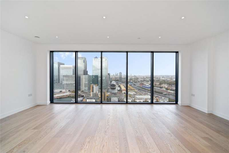 2 Bedrooms Flat for sale in Horizons Tower, Yabsley Street, London