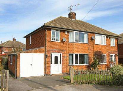 3 Bedrooms Semi Detached House for sale in Rose Avenue, Calow, Chesterfield, Derbyshire
