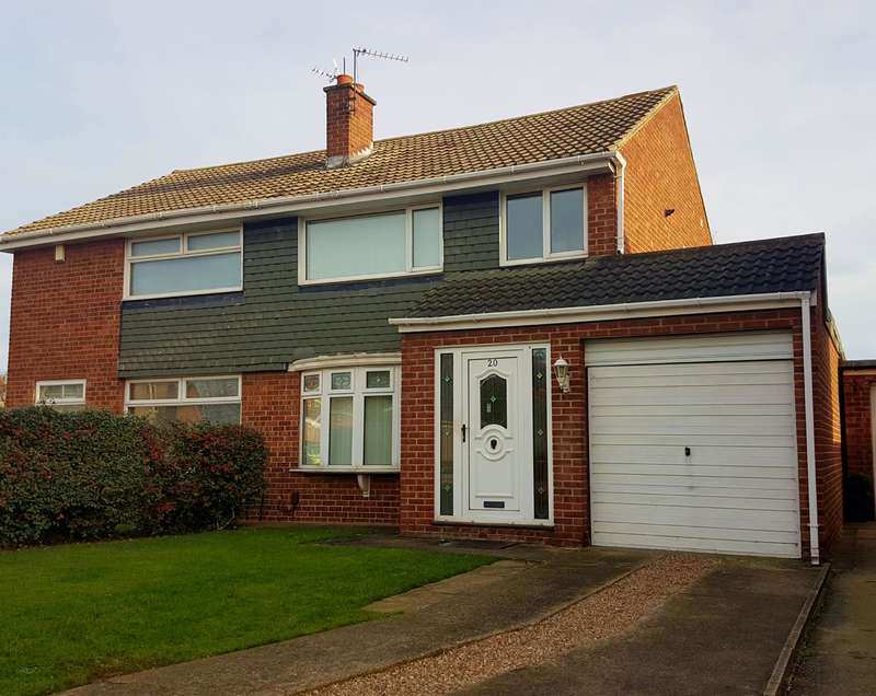 3 Bedrooms Semi Detached House for sale in Hesleden Avenue, Acklam, Middlesbrough, TS5 8RD