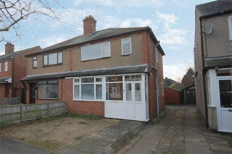 3 Bedrooms Semi Detached House for sale in Charter Road, RUGBY, Warwickshire