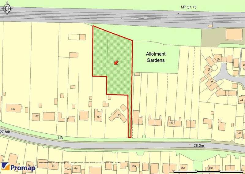 Land Commercial for sale in DEVELOPMENT SITE FOR SALE, Land behind 163 and 167 Wivenhoe Road, Alresford, Colchester, Essex