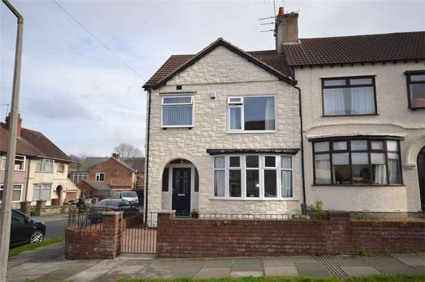 3 Bedrooms End Of Terrace House for sale in Stanbury Avenue, Bebington, Merseyside
