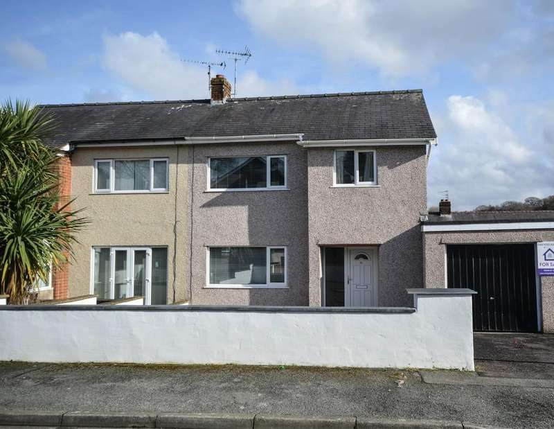 3 Bedrooms Semi Detached House for sale in Lon Y Bedw, Bangor, North Wales