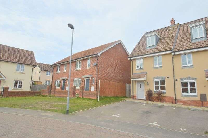 3 Bedrooms Semi Detached House for sale in Heron Road, Queens Hill, Norwich