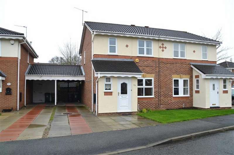 3 Bedrooms Semi Detached House for sale in Hilbre Drive, Stanney Oaks, Ellesmere Port