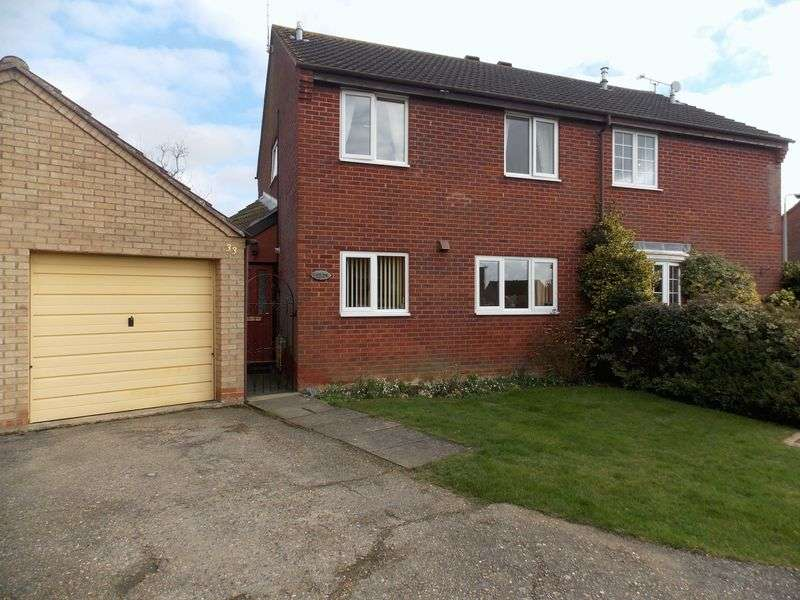 3 Bedrooms Semi Detached House for sale in Darcy Close, Bury St Edmunds