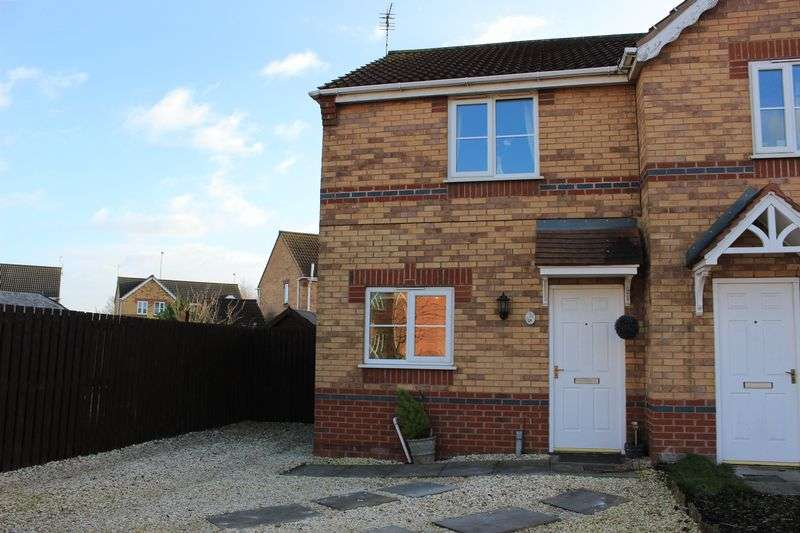 2 Bedrooms Semi Detached House for sale in An ideal First Time Buy, this modern semi detached property is located on this popular centrally located estate.