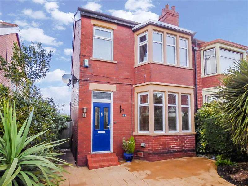 3 Bedrooms Semi Detached House for sale in Bardsway Avenue, Layton, Blackpool