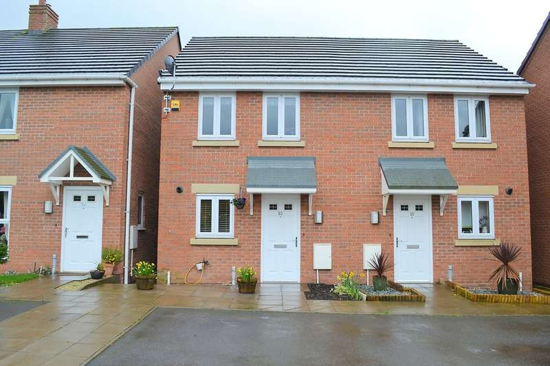 2 Bedrooms Semi Detached House for sale in Booth Hurst Road, Rugeley