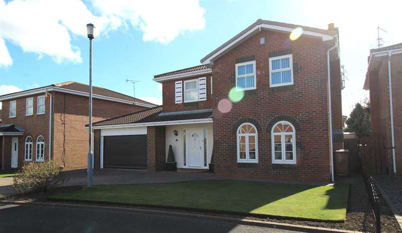 4 Bedrooms Detached House for sale in Woburn Close, Northburn Park, Cramlington