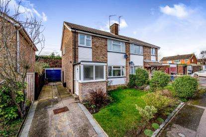 3 Bedrooms Semi Detached House for sale in Nightingale Avenue, Bedford, Bedfordshire, .