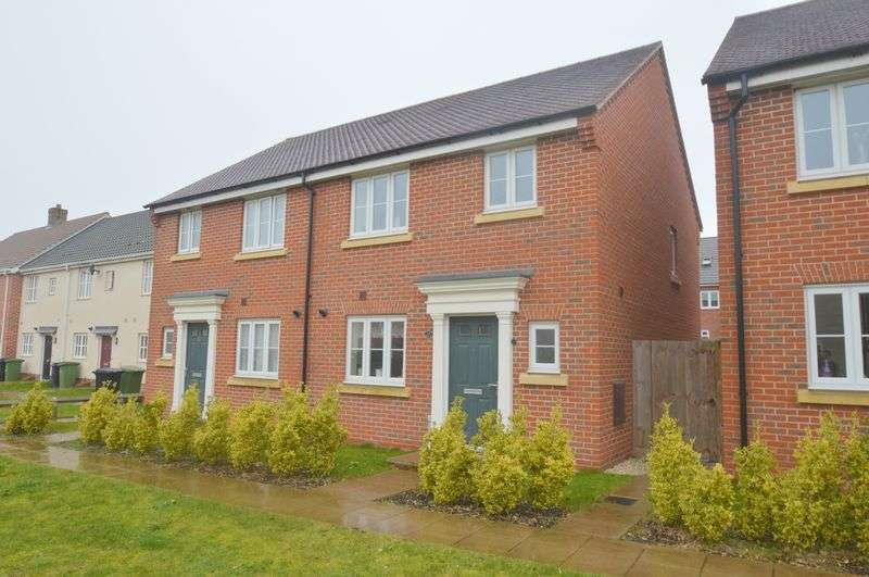 3 Bedrooms Semi Detached House for sale in Triumph Court, The Hampdens, New Costessey, Norwich