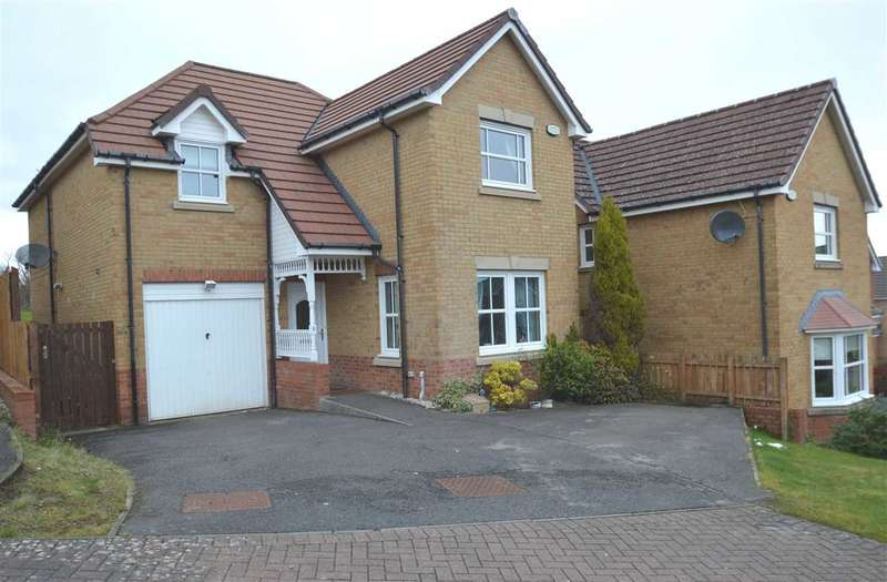 5 Bedrooms Detached House for sale in Crail Close, Westcraigs, Blantyre. 2 storey extension to rear