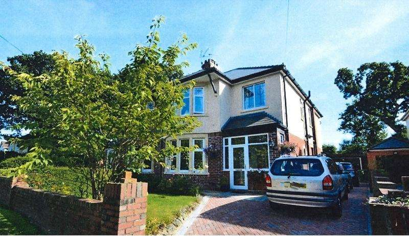 3 Bedrooms Semi Detached House for sale in Werngoch Road, Cyncoed, Cardiff. CF23 6SD