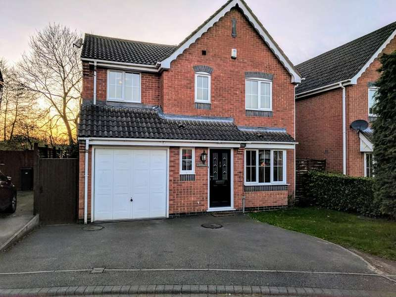 4 Bedrooms Detached House for sale in Cadeby Close, Hinckley