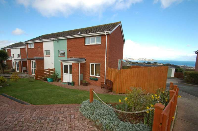 2 Bedrooms End Of Terrace House for sale in Waterleat Close, Paignton